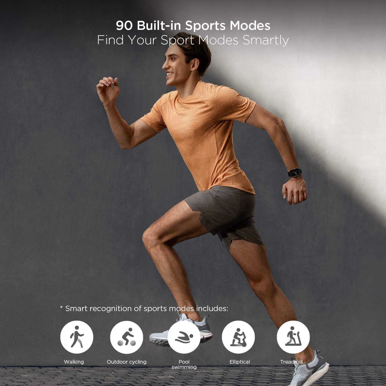 Amazfit GTS 2e - Montre Connectée GPS - 90+ Modes Sportifs