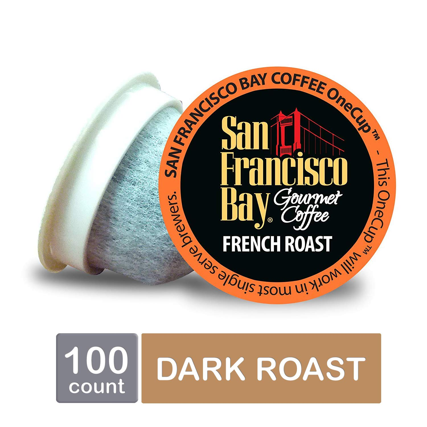 San Francisco Bay OneCup French Roast, Single Serve Coffee K-Cup Pods (100 Count) Keurig Compatible