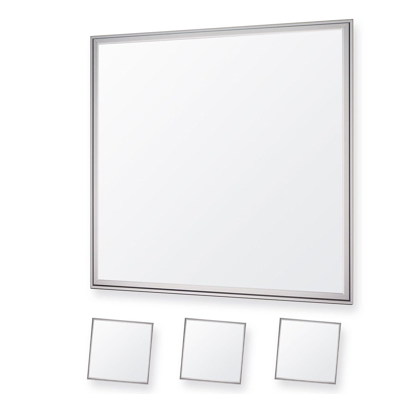 LEDVero 3er Set 60x60cm Ultraslim LED Panel dimmbar  36W, 3000lm, 4500K Deckenleuchte mit Befestigungsclips und EMV2016 Trafo -Neutralweiß- Energieklasse A+