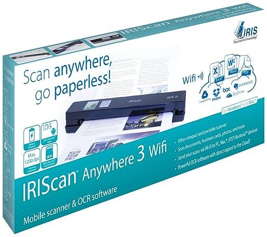 84 opinioni per IRIScan Anywhere 3 Wi-Fi Scanner Portatile per Documenti Sincronizzabile con