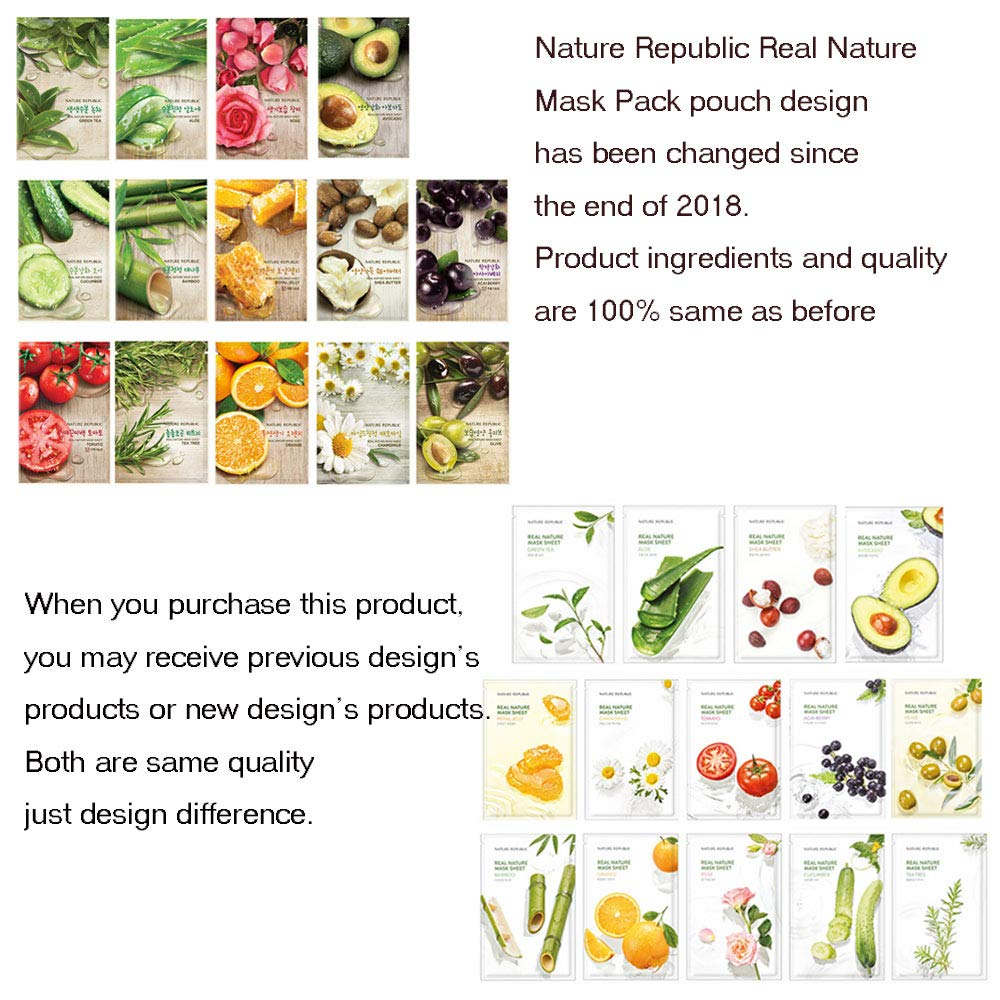 Nature Republic Real Nature Mask Sheet 10pcs Original Korean Mask Sheet