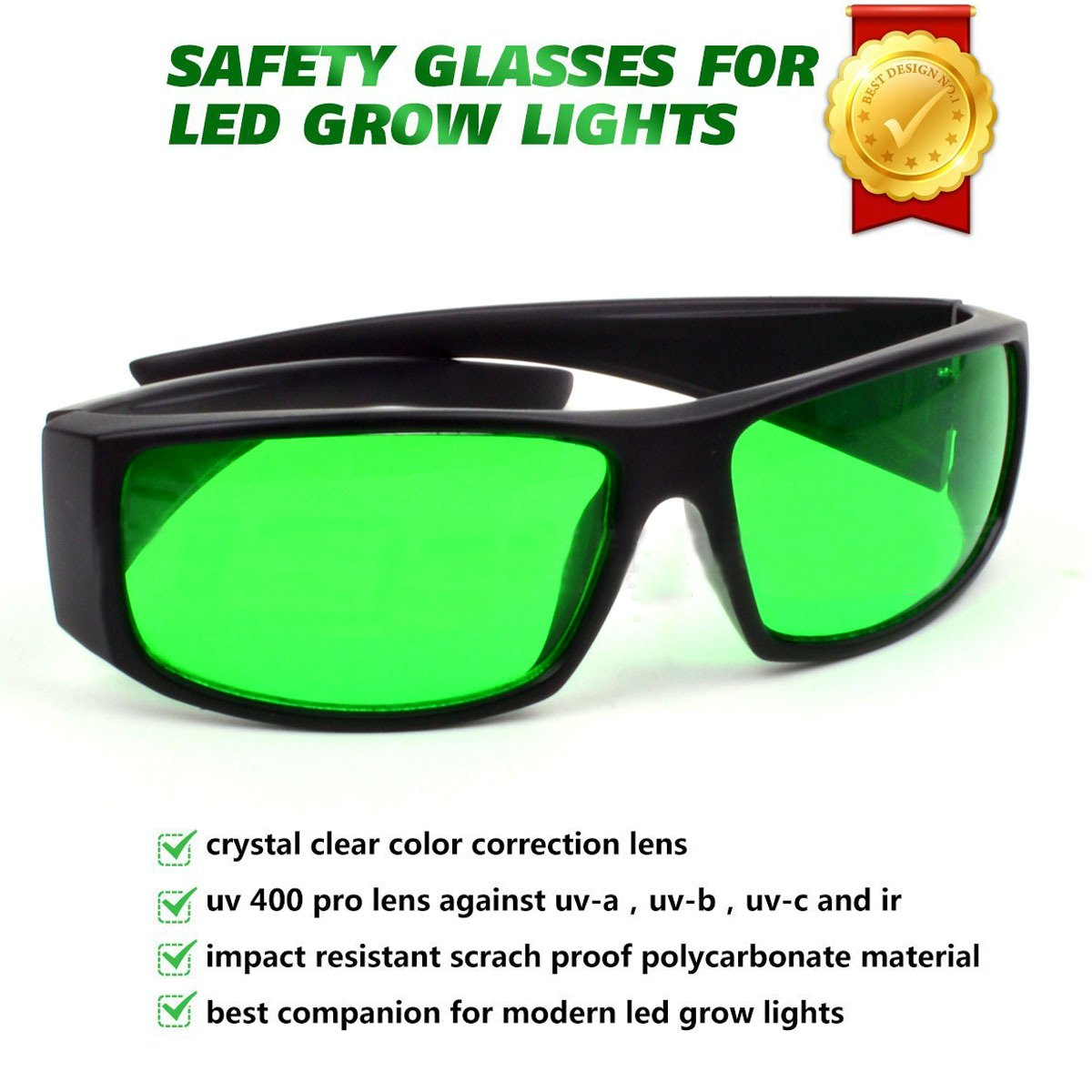 Amazon.com : Indoor LED Grow Light Room Glasses Anti UV and red ...