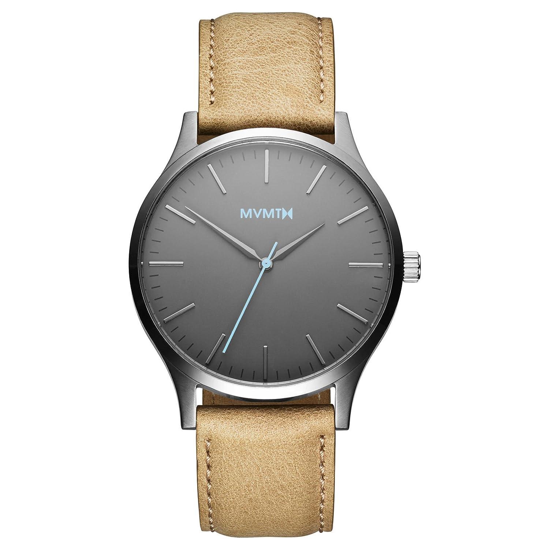 MVMT Watches 40 Series Herren Uhr Gunmetal-Sandstone Leather
