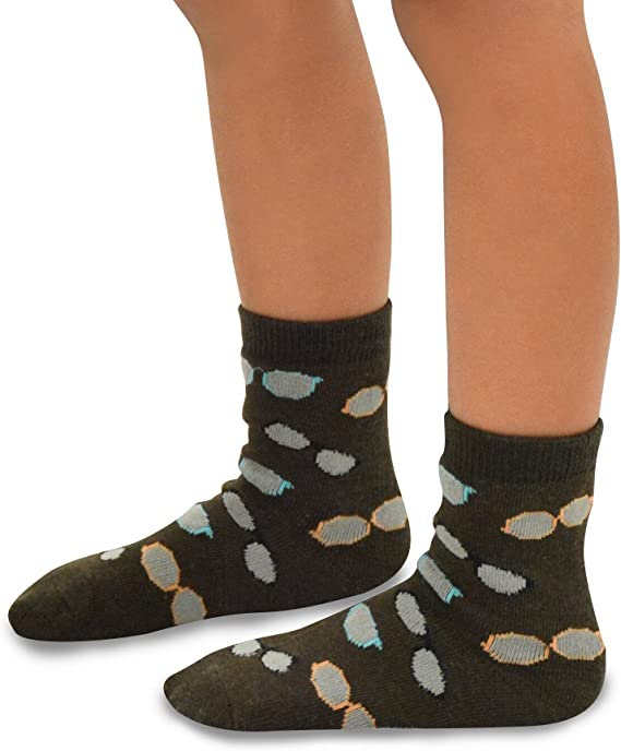 6-8 Years, Dogs Face Kids Boys Fashion Fun Cotton Crew Socks 6 Pair Pack TeeHee Naartjie
