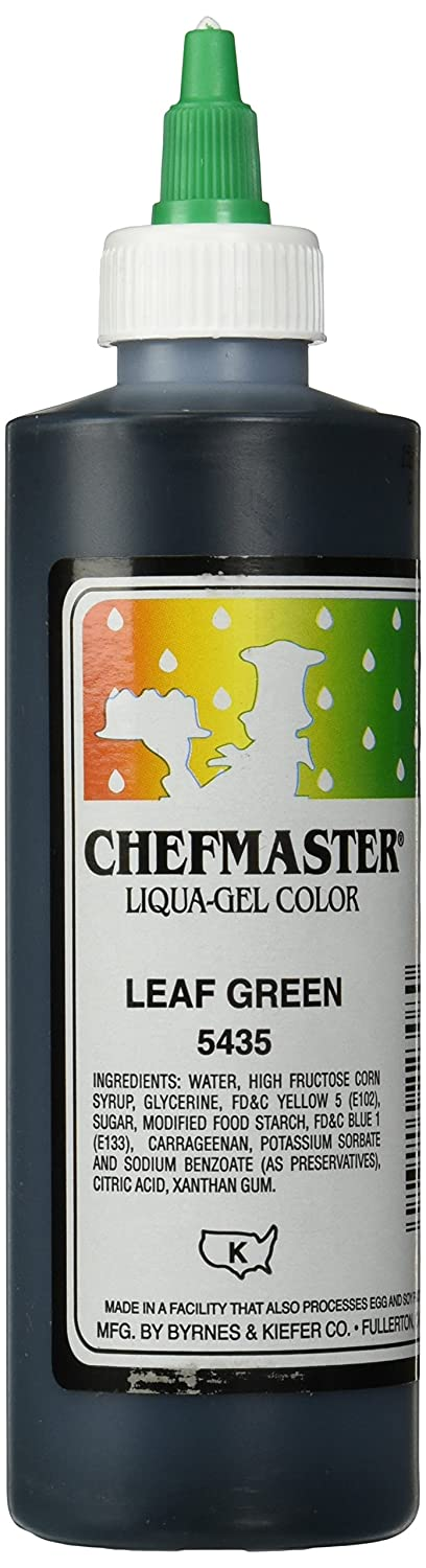 Chefmaster Liqua-Gel Food Color, 10.5-Ounce, Leaf Green