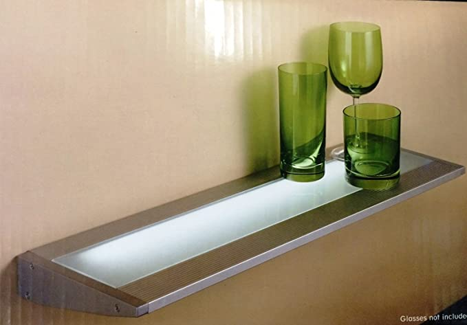 finest selection 1331d 7e416 Wickes Cairns T5 Floating Glass Shelf Light for Kitchens ...