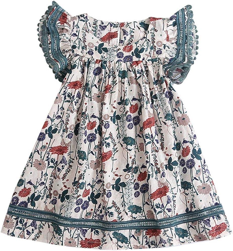 ASHOP Vestidos niña 6 años Faldas Talla Grande Vestido Casual ...
