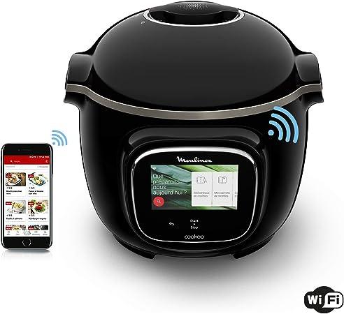 Moulinex Cookeo Touch - Olla inteligente de alta presión WiFi Touch Connect Negro: Amazon.es: Hogar