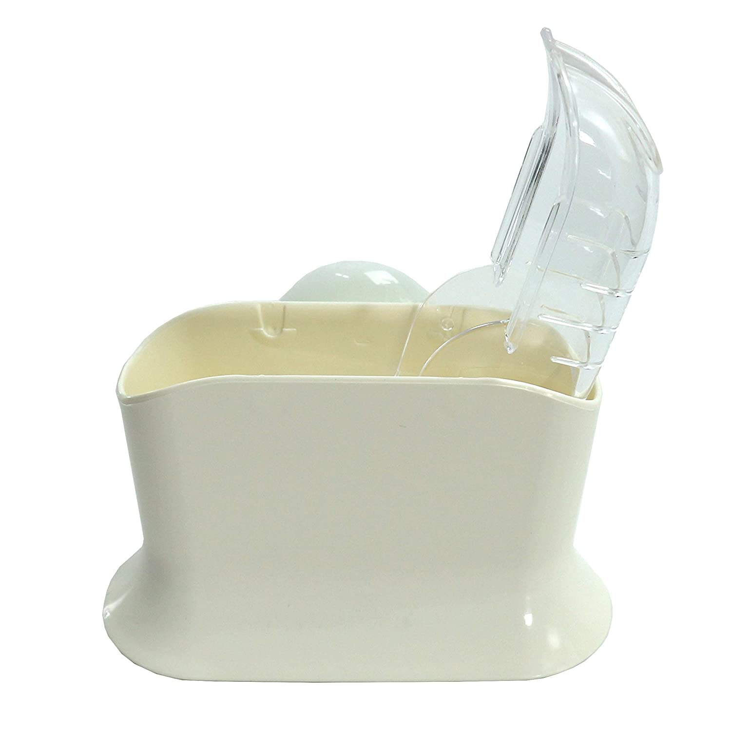 Sanada Rice Paddle Rest With Suction Cup Rice Scooper Holder White