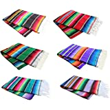 X-Large Colorful Mexican Serape Blankets Assorted El Molcajete Brand
