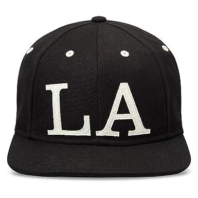 Gents Men s Ace  LA  Six-Panel Adjustable Basic Baseball Cap Hat ... 8d06780bab3