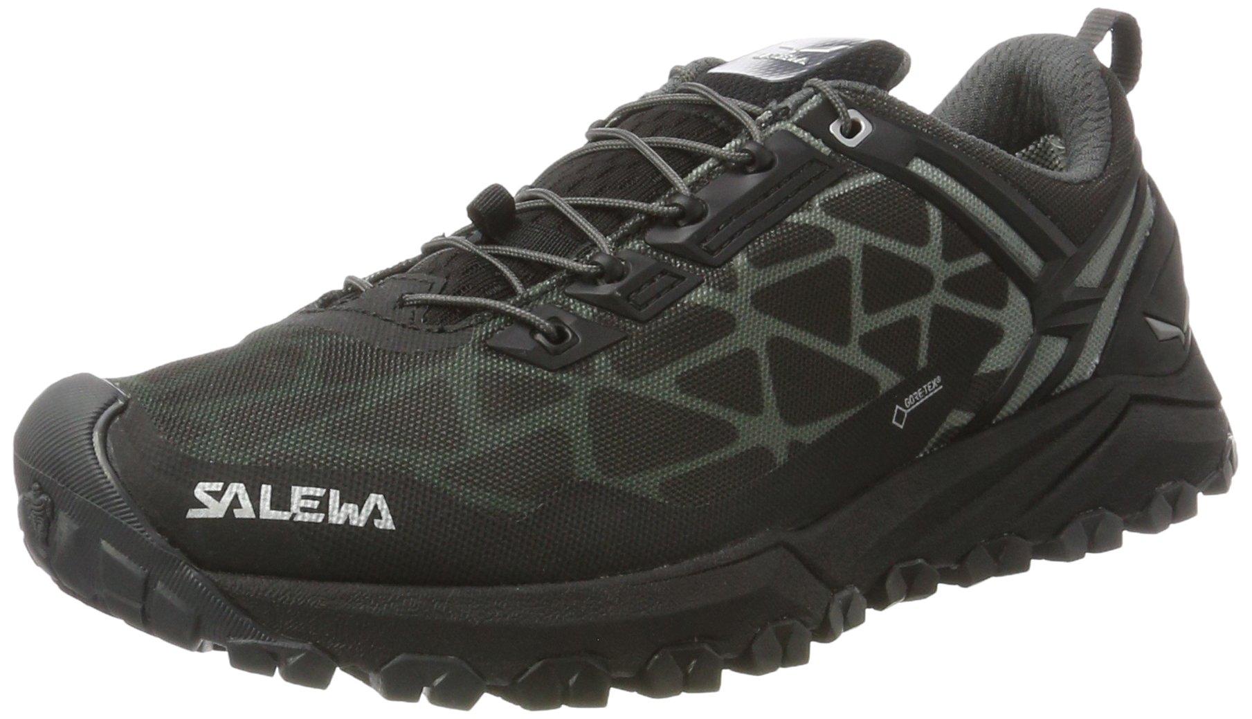 Salewa Men's Multi Track GTX Speed Hiking Shoe, Black/Silver, 12
