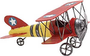 Deco 79 Metal Airplane, 12 by 6-Inch