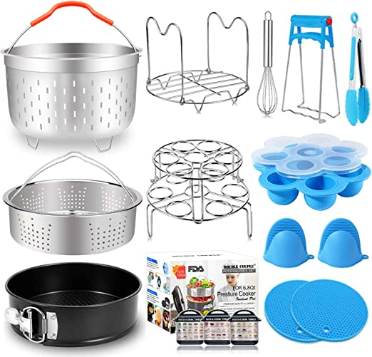 6pcs for Instant Pot Accessories Set Fits 6 qt 8 Quart Cooker W// Steamer Basket