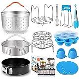 Pressure Cooker Accessories for Instant Pot 6 8 Qt with Steamer Basket Silicone Egg Bites Molds Egg Steamer Rack Springform P