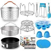 17 PCs Pressure Cooker Accessories for Instant Pot 6 8 Qt with Steamer Basket Silicone Egg Bites Molds Egg Steamer Rack…