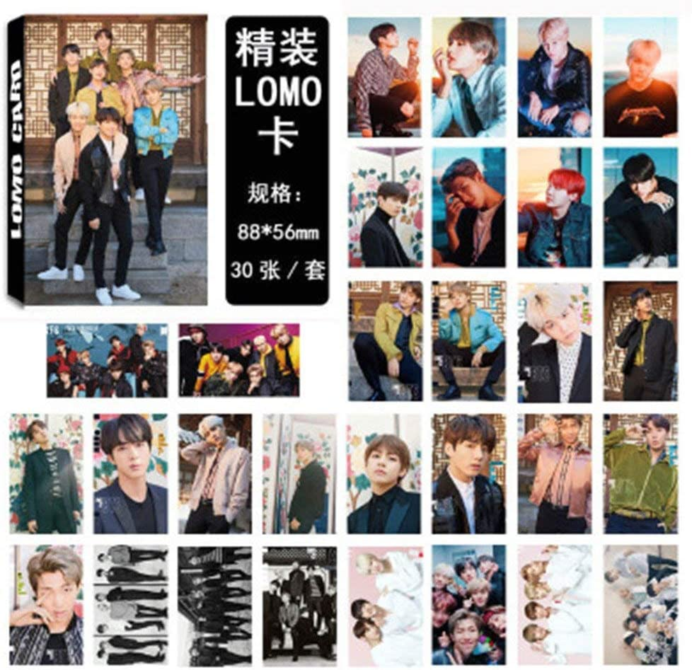 Kpop BTS Wings Card Paper Photo BTS Love Yourself Photocards Lomo Card Sticker Postcard Set Gift for A.R.M.Y 30pcs Nuofeng H05