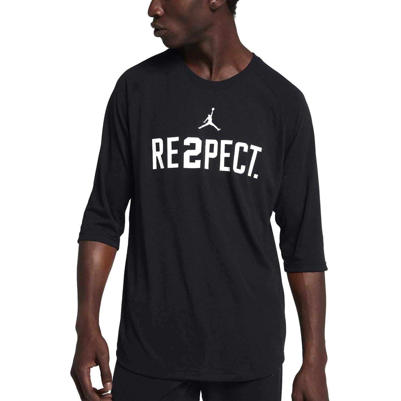 25945babbb59 Amazon.com  Nike Jordan Men s Derek Jeter Respect Crew Neck T-Shirt   Clothing