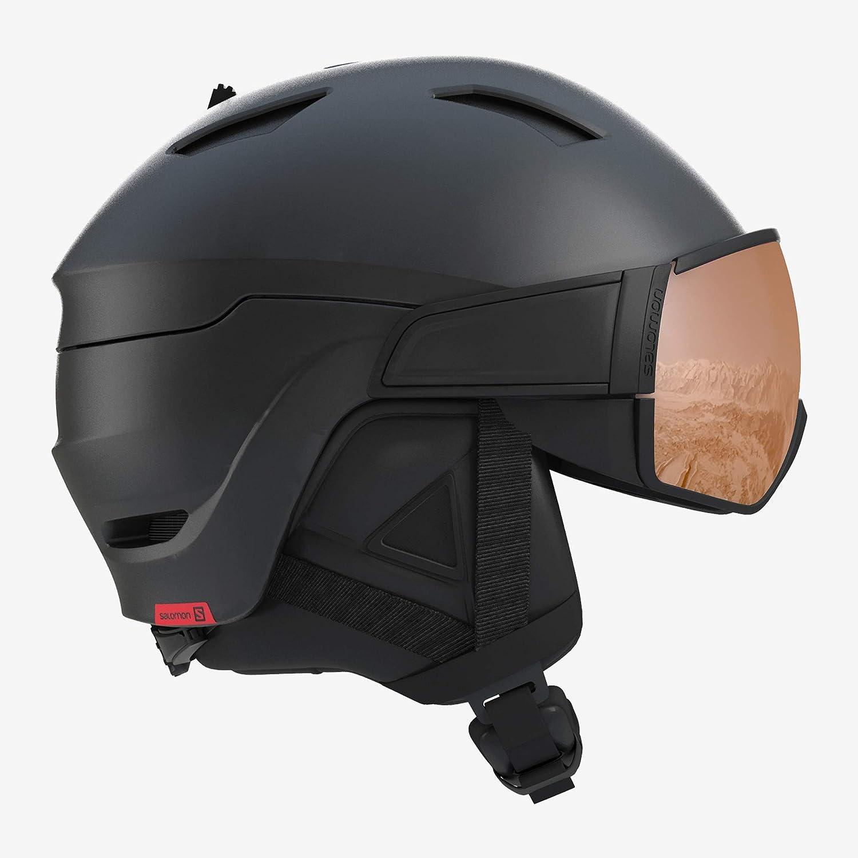 SALOMON(サロモン) スキーヘルメット スノーボードヘルメット DRIVER S (ドライバーS) 2019-20年モデル サイズM~L 黒/赤 Accent Medium