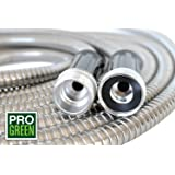 ALL NEW 2018 50' Metal Garden Hose by Pro Green | Stainless Steel Hose | Good for Water Lawn, Washing Pets, Car Wash | Kink Free, Durable, Easy to Use | Full Warranty (50 ft)