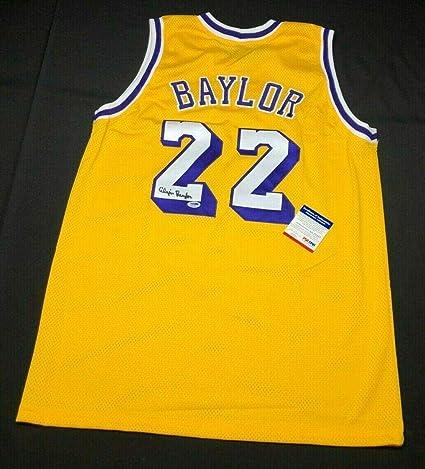c8f20b49f61 Elgin Baylor Signed Jersey -  HOF 4A21657 - PSA DNA Certified - Autographed  NBA