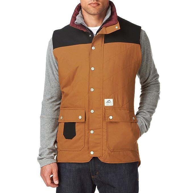 Vans - Chaleco - Moda - para Hombre marrón Large: Amazon.es: Ropa y accesorios