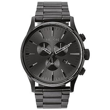Nixon Sentry Chrono - Reloj de Cuarzo, Correa de Acero Inoxidable Color Gris: Nixon: Amazon.es: Relojes