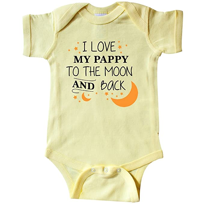 99c0c869de5a inktastic - I Love My Pappy to The Infant Creeper Newborn Banana Yellow  29752