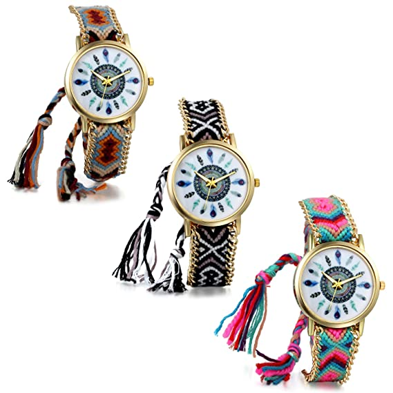 2dd0085c7df59 Amazon.com: JewelryWe Wholesale Lot of 3 Women Friendship Bracelet ...