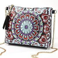 DIY 5D Diamond Painting Crossbody, ZSYUNI Special Shaped Drill Cross Stitch Backpack Handbag Purse Tote Storage Bag Embroidery Kit Leather for Girl Women Art Craft Decor