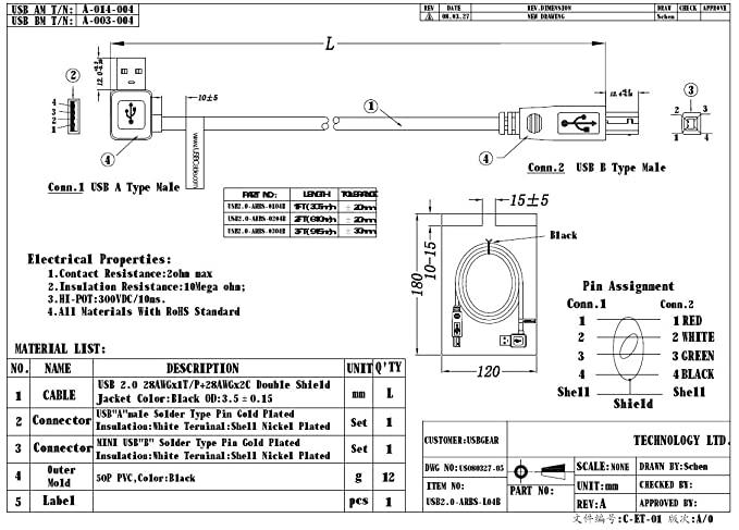 Amazon.com: USBGear 1ft. Right to Straight A to B 28/28AWG Cable USB on electrical diagrams, gmc fuse box diagrams, sincgars radio configurations diagrams, smart car diagrams, lighting diagrams, electronic circuit diagrams, switch diagrams, engine diagrams, internet of things diagrams, motor diagrams, hvac diagrams, series and parallel circuits diagrams, led circuit diagrams, friendship bracelet diagrams, honda motorcycle repair diagrams, pinout diagrams, transformer diagrams, troubleshooting diagrams, battery diagrams,