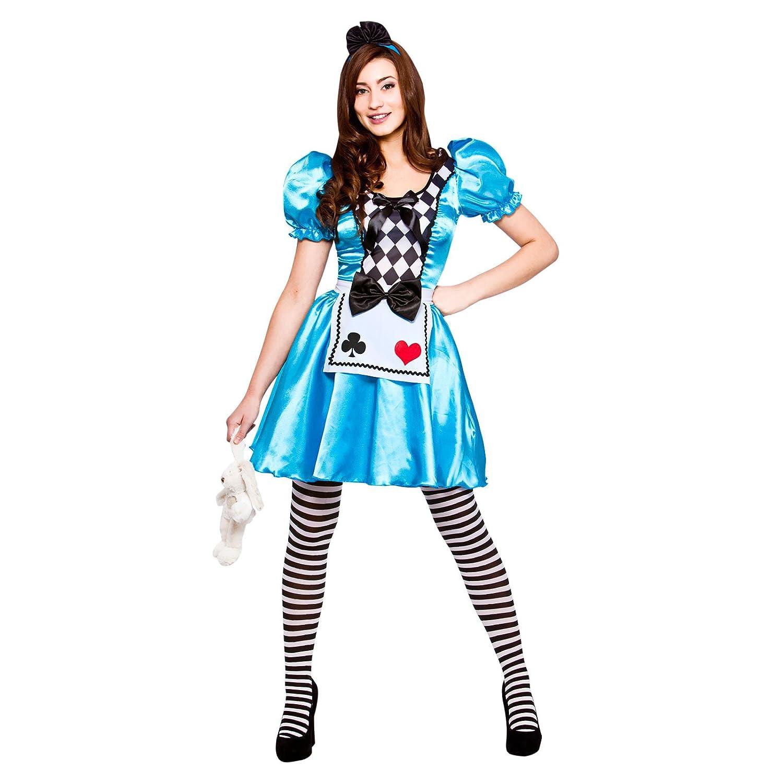 Ladies Storybook Alice Fancy Dress Up Party Costume Halloween ...