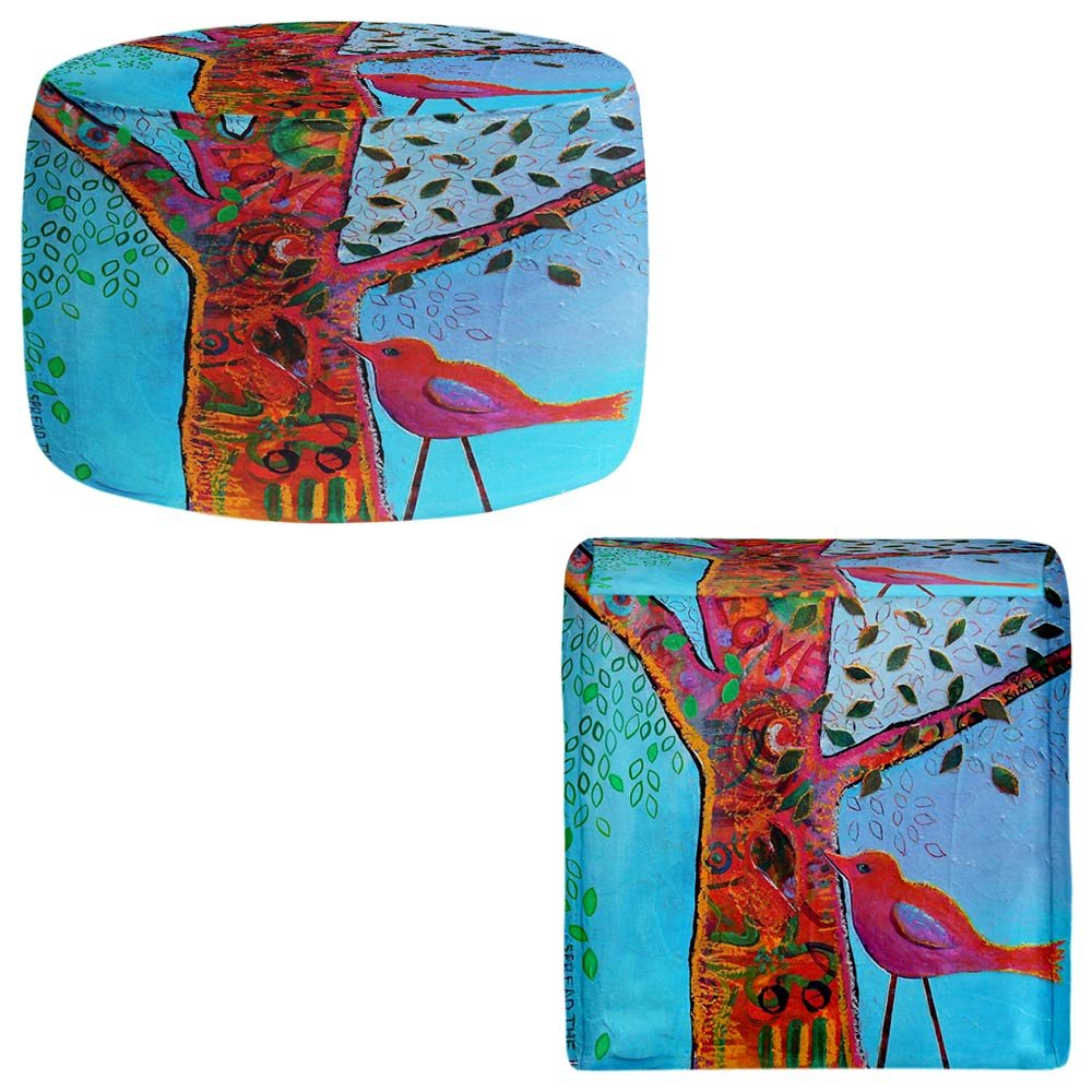 Foot Stools Poufs Chairs Round or Square from DiaNoche Designs by Kim Ellery - Love Tree