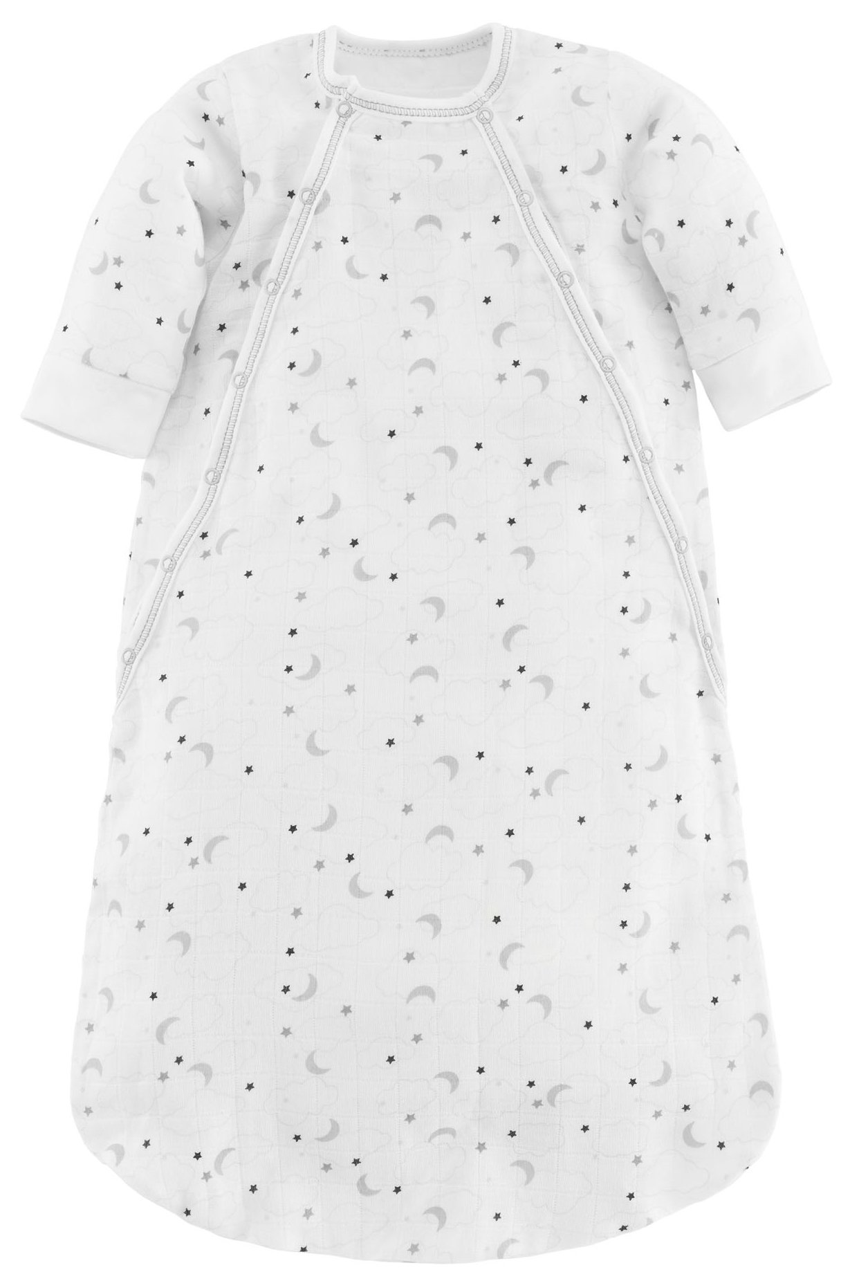Under the Nile Baby Muslin Bunting Organic Cotton (Grey Starry Night Print, 3-6 Months) by Under the Nile (Image #1)