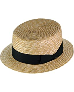 be72728a792 Scala Men s Dress Straw 1 Piece 10 11Mm Laichow Braid Boater Hat at ...