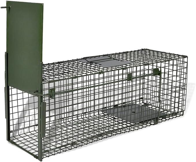Trampa de Captura,Jaula para Animales Vivos con 1 Puerta,Humano,Jaula Trampa,de Acero 80 x 25 x 25 cm
