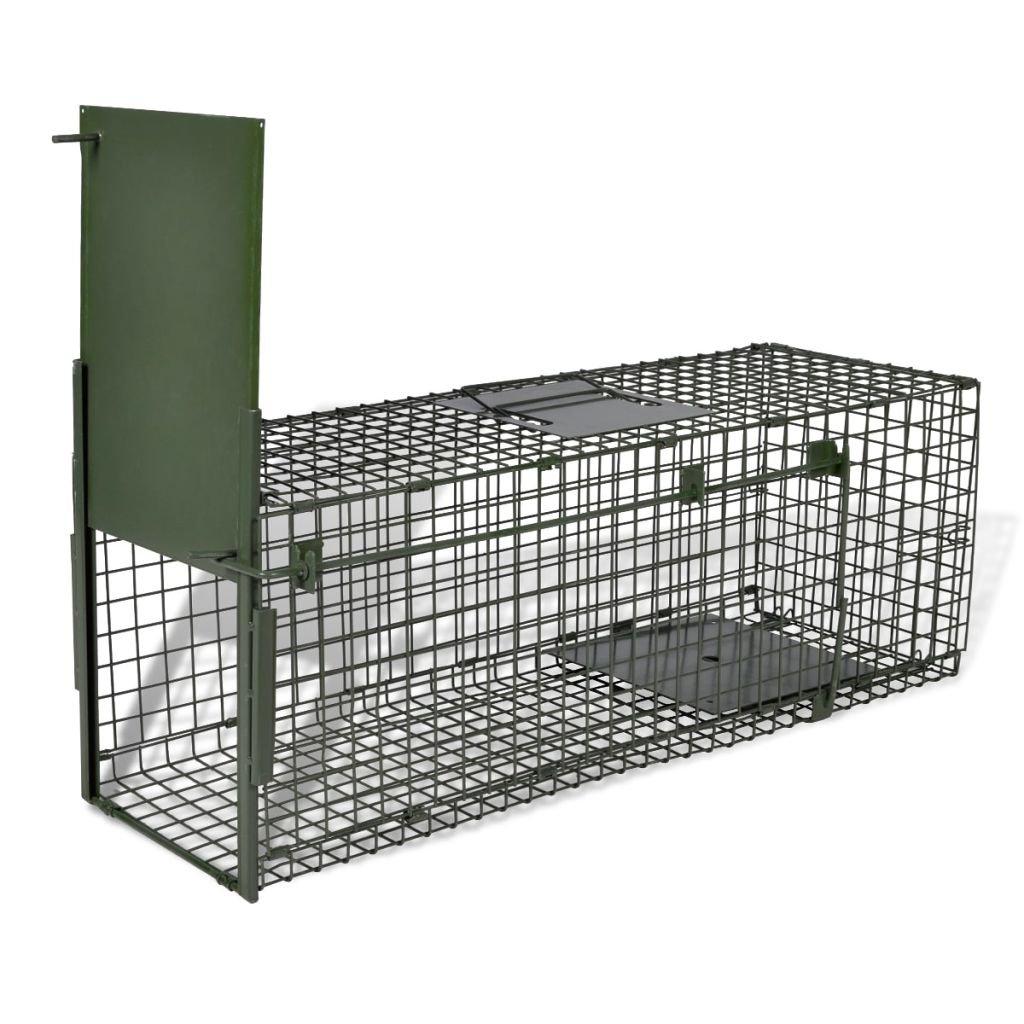 Trampa de Captura, Jaula para Animales Vivos con 1 Puerta, Humano, Jaula Trampa, de Acero 80 x 25 x 25 cm: Amazon.es: Jardín