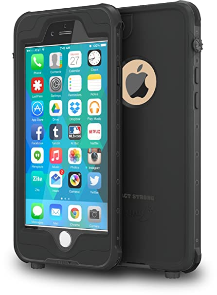 meet 9f534 a12cc ImpactStrong iPhone 6 Plus Waterproof Case [Fingerprint ID Compatible] Slim  Full Body Protection for Apple iPhone 6 Plus & 6s Plus (5.5