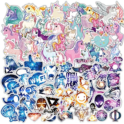 Cheapest Prices! 200 PCS Galaxy and Laptop Stickers for Car, Laptop, Skateboard, Luggage, Waterproof...
