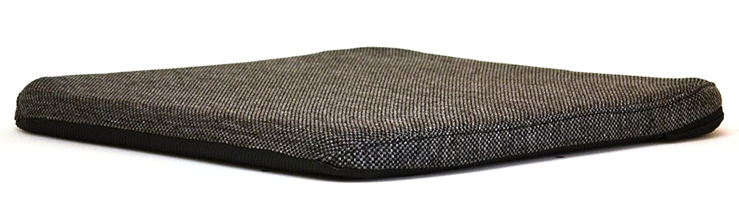 Grey Mc Cartys Sacro-Ease Bottom Cushion Seat Support Coccyx Tailbone Cutout and Extra Padding 15-Inch Wide