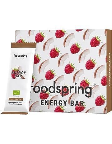 foodspring Barrita Energética pack de 12, Coco-Frambuesa, 12x35g, Cafeína para mascar