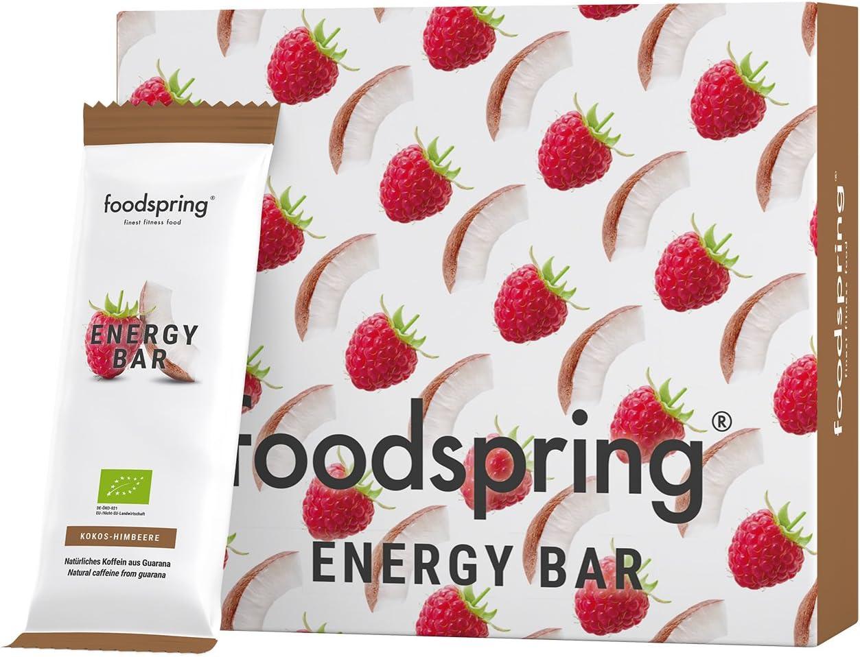 foodspring Barrita Energética pack de 12, Coco-Frambuesa ...