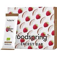 foodspring Barrita Energética pack de 12, Cereza-Manzana, 12x35g, Cafeína para mascar