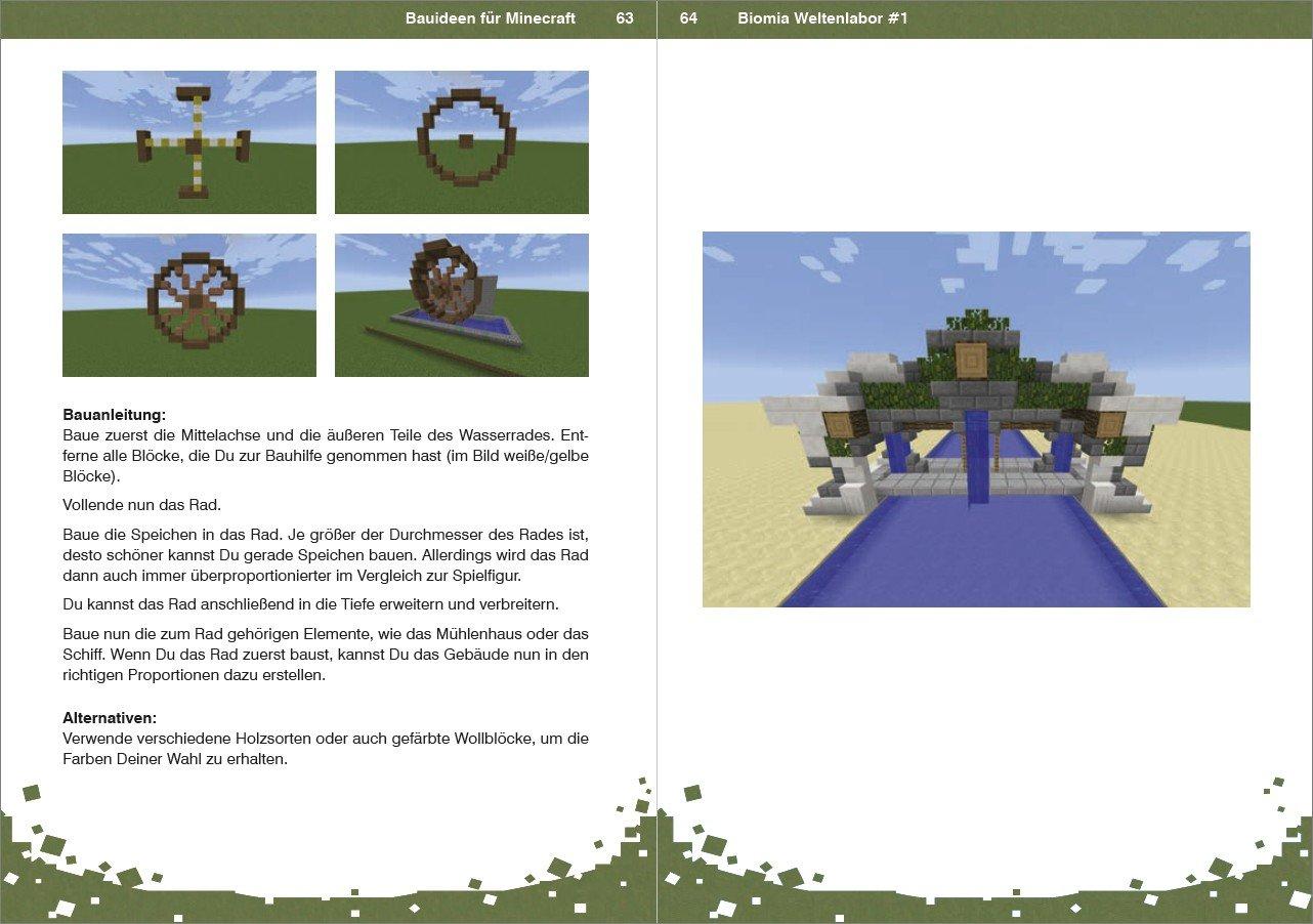 BIOMIA Weltenlabor Bauanleitungen Für Minecraft Amazonde - Minecraft haus bauen fur profis