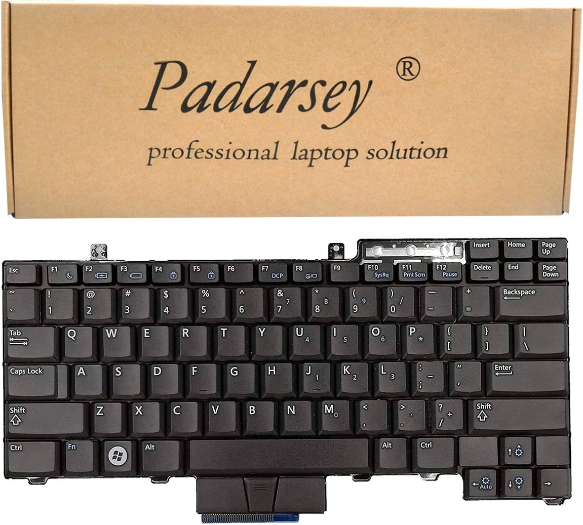 Padarsey Replacement Keyboard Without Pointer Compatible with Dell Latutude E6400 E6410 E6500 E6510 E5410 E5510 E5400 E5500 Precision M2400 M4400 M4500 Series Laptop US Layout