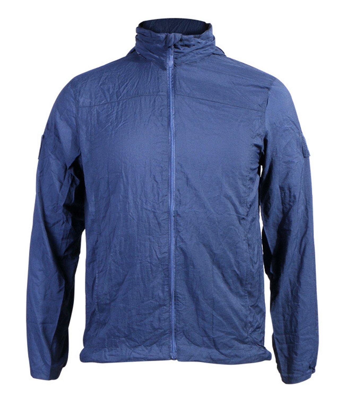 LANBAOSI Mens Lightweight Tactical Jacket Waterproof Zipper Hoodie Windbreaker