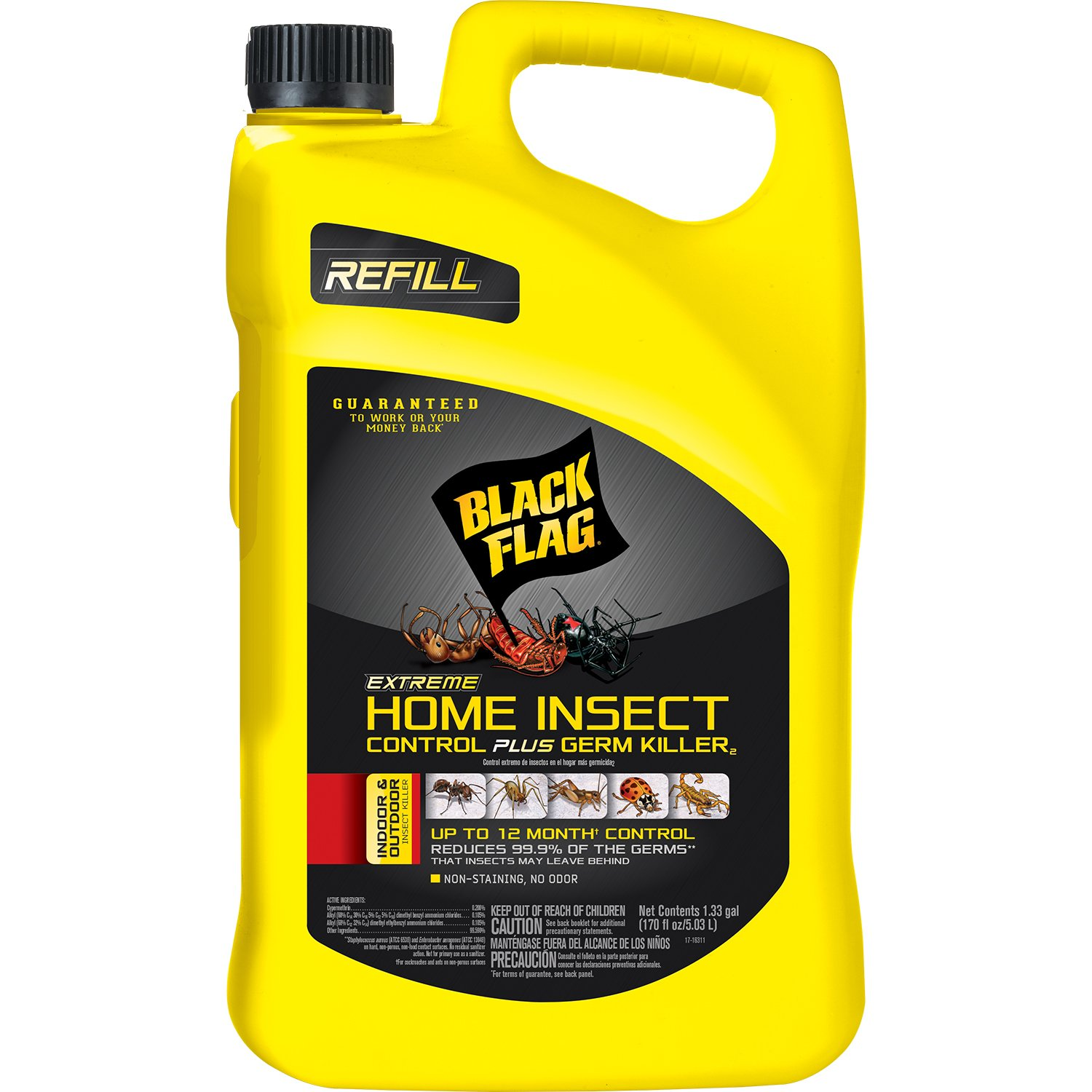 Black Flag Extreme Home Insect Control + Germ Killer2 (AccuShot Refill), 1.33-gal 11103