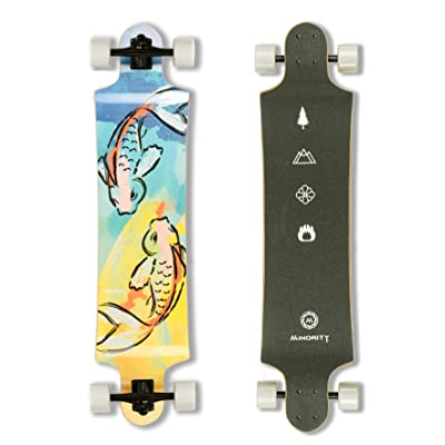 MINORITY Downhill Maple Longboard 40-inch Drop Deck (Koifish) : Sports & Outdoors