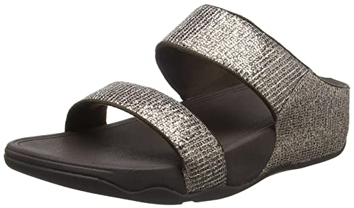 ba6aa924bf0a Fitflop Women s Lulu Superglitz Slide Open Toe Sandals  Amazon.co.uk ...