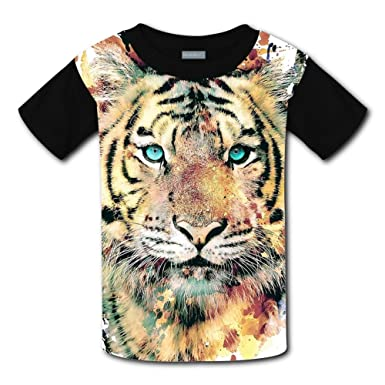 13663304 Image Unavailable. Image not available for. Color: Kids Tiger Face T Shirts/ Tee ...